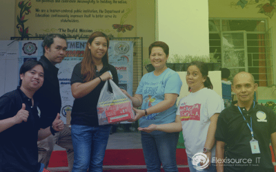"""Flexisource IT Team Volunteers on Bag-Packing and """"Balik Eskwela"""" Drives for New School Year"""