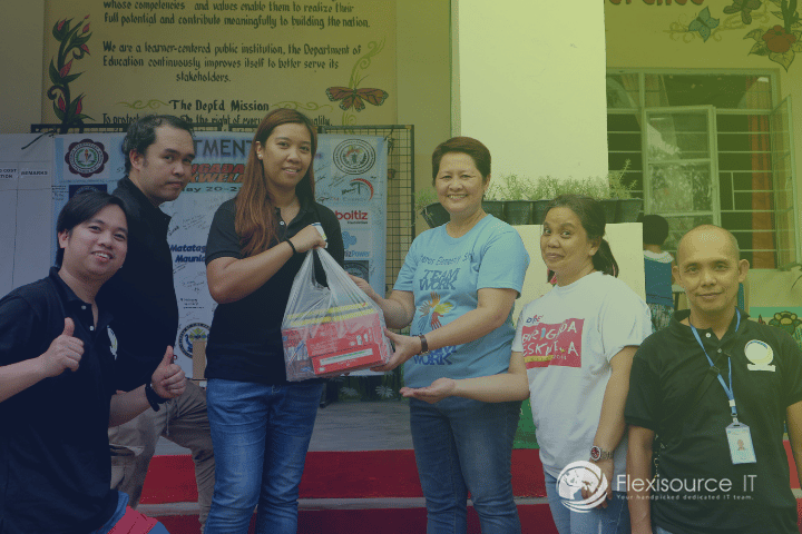 "Flexisource IT Team Volunteers on Bag-Packing and ""Balik Eskwela"" Drives for New School Year"